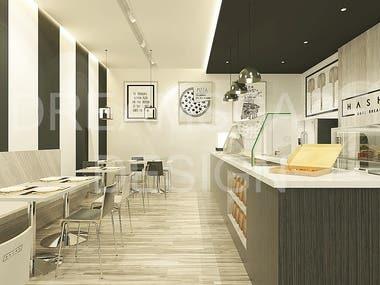 Simple Pizza Restaurant Design