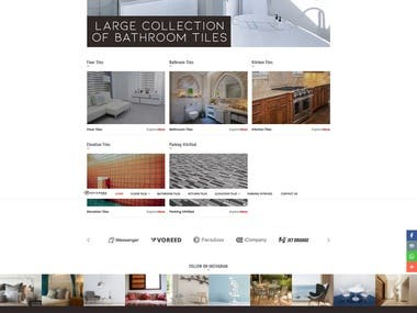 Ecommerce Website For Tiles Company