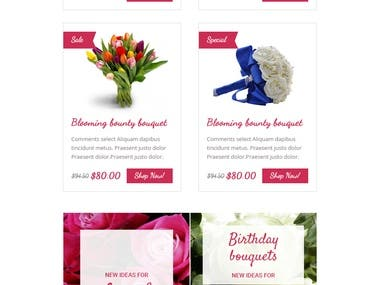 Ecommerce Template for Flower Company