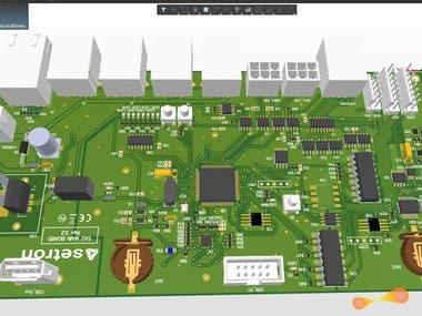 ARM processor + PIC development board