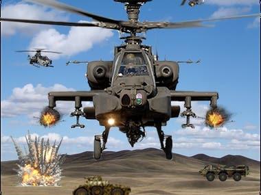 Gunship Air Helicopter War