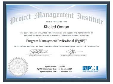 PgMP Certificate