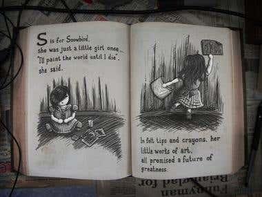"""SnowBird"" - Book Illustrations"