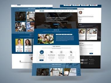 Corporate Web Template Design