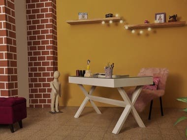 Industrial Interior Design of a Fashion Atelier
