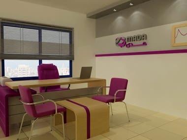 Interior Design for Company 2 (Internet Service Provider)