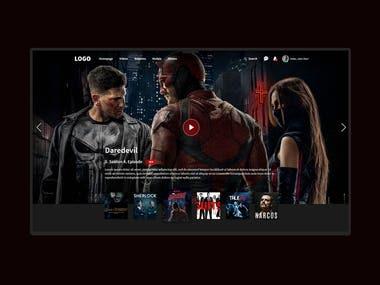 Film- TV series website interface design