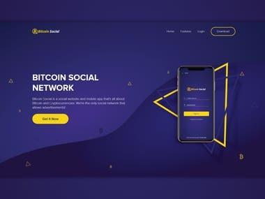 Social platform landing page design