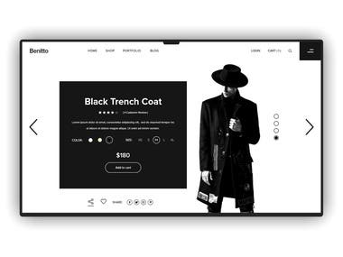 Fashion E-commerce web interface design