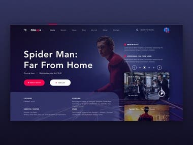 TV Serie-movie web application interface design