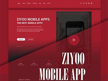 ZIYOO Mobile App Template.