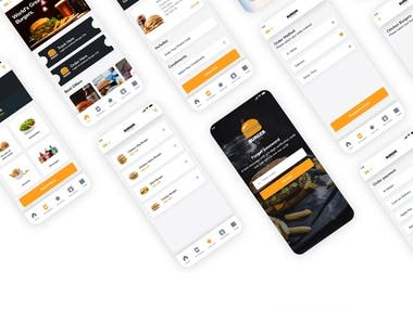 UI kit for Burger City
