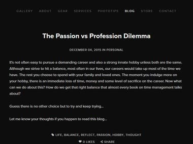 Passion vs Profession