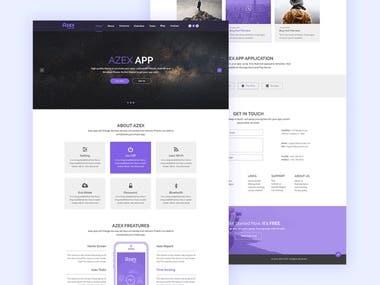 AZEXAPP Landing page template