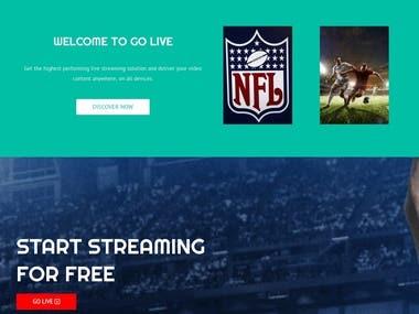 Go-LiveStream - Live Streaming Website