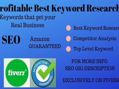 I Will Do SEO Targeted Keyword Research And Competitor