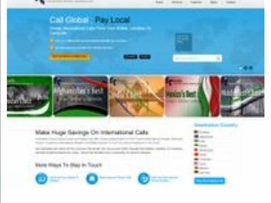 Its an calling card company website with Ecommerce functiona