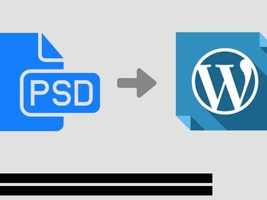 PSD TO RESPONSIVE WORDPRESS WEBSITE DEVELOPMENT