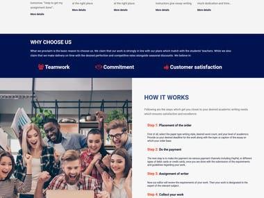 WordPress Service-based and Corporate Website