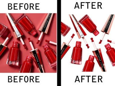 cosmetics Product background remove