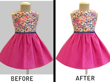 Dress product Background remove