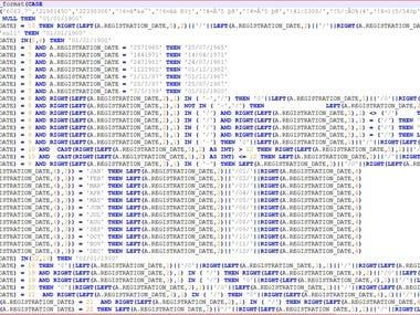Date formatting of multiple irregular formats