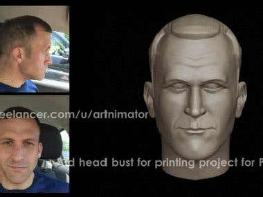 3D Printing, 3D Head Bust, Caricature