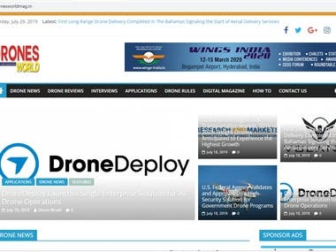 Drone New Blog website