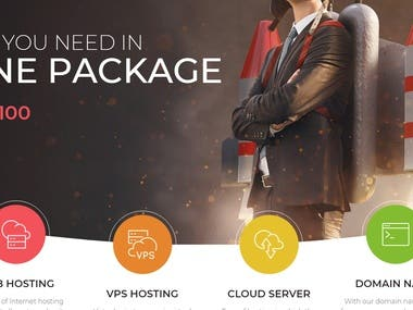 Hosting and domain service provider