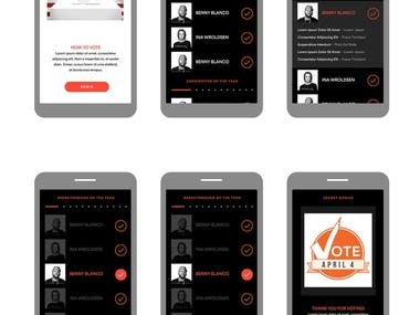 Mobile website for voting system