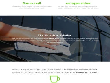 Car wash site on Wordpress with payment integration