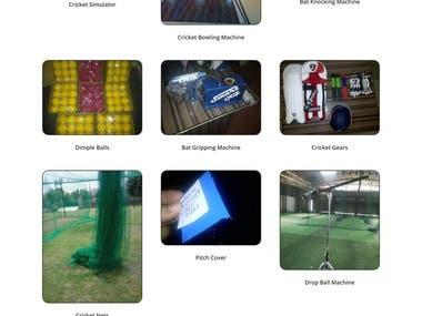 Cricket Gear Biz site and Store on WordPress