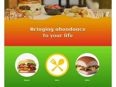 Restaurant / burger joint site on wordpress