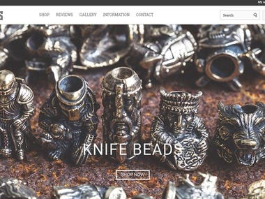 Online shop of paracord craft products