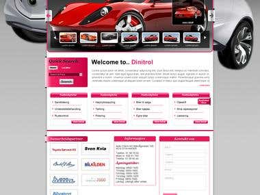 Automobile Website in Wordpress