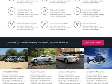 A new project are based on WordPress theme and plugin