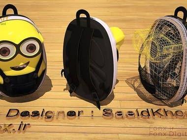 3D Minion Back Pack