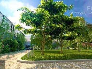 Garden 3D Exterior