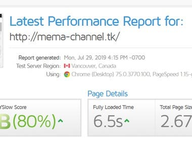 Website boost speed