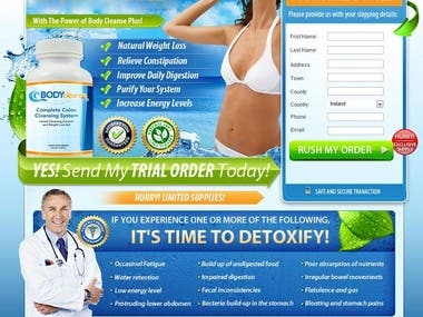 Landing Page Design for BodyCleanse Sales Page