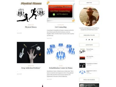 Website created for Social organizer