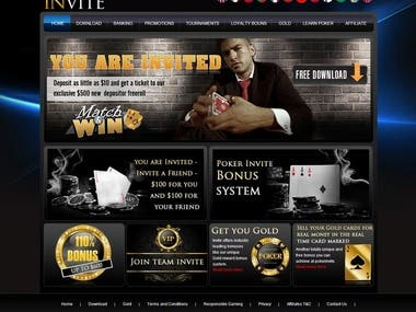 WordPress Theme - Poker Invite