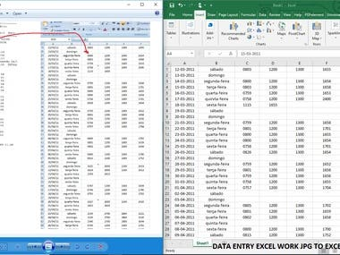 DATA ENTRY EXCEL WORK JPG TO EXCEL.