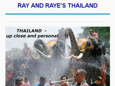 Thailand - Screenshot from my blog website about Thailand
