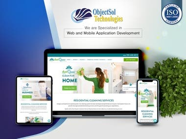 Residential Cleaning Service Provider Website