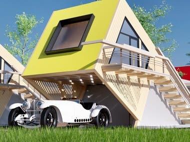 3D Rendering Architecture Exterior