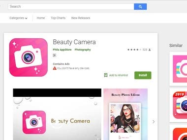 ASO Expert | Beauty Camera | Top Ranking For Android App