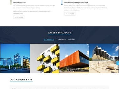 Architectural wordpress website