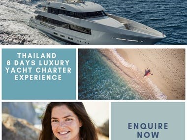 Social media management for Yatch company
