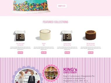 Responsive King's Confectionery Website